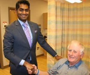 Dr. Puppala with pain free patient, Atlanta, GA