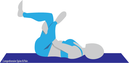 Reclined pigeon yoga pose illustration